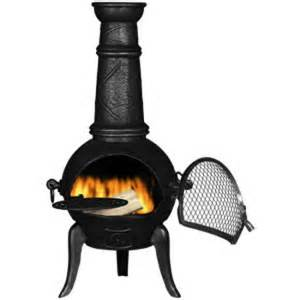 Steel Chimineas Chiminea Havana Medium Black Cast Iron