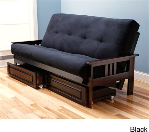 futon bed with drawers beli mont multi flex microsuede futon with drawers