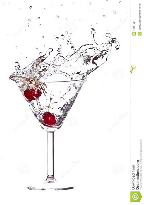 red martini splash red cherry cocktail splash stock image image 19881541