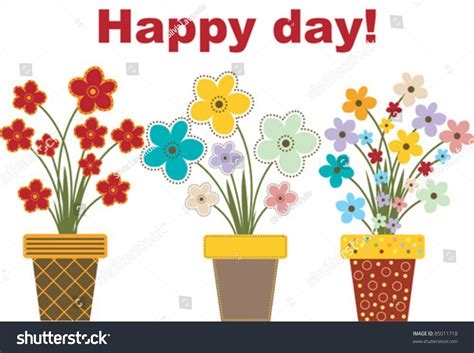 happy day flowers flowers for a happy day stock vector 85011718