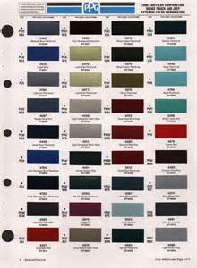 2003 Dodge Ram 1500 Paint Colors Paint Chips 1996 Chrysler Fleet