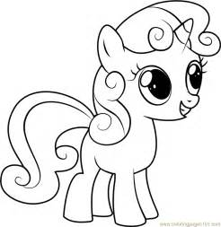 sweetie belle coloring page free my little pony