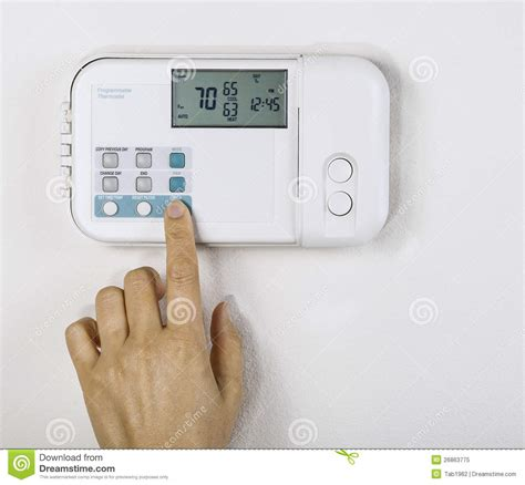 Temperature Inside House by Adjusting Home Temperature Royalty Free Stock Photo