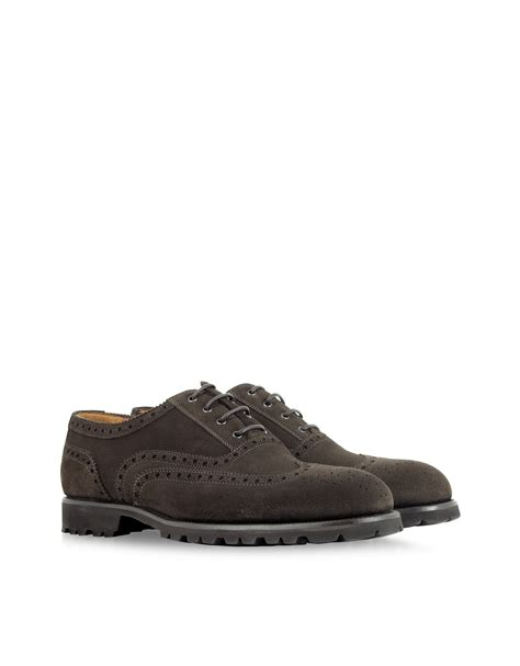 mens brown suede oxford shoes a testoni brown suede oxford shoe in brown for lyst