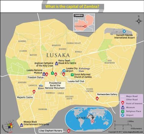 map of lusaka city map of lusaka city the capital of zambia answers
