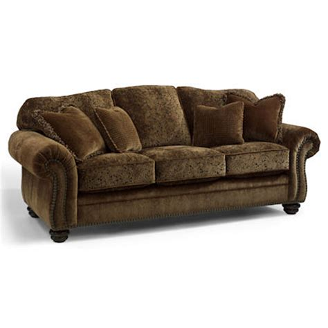 flexsteel 8649 31 bexley melange sofa with nails discount