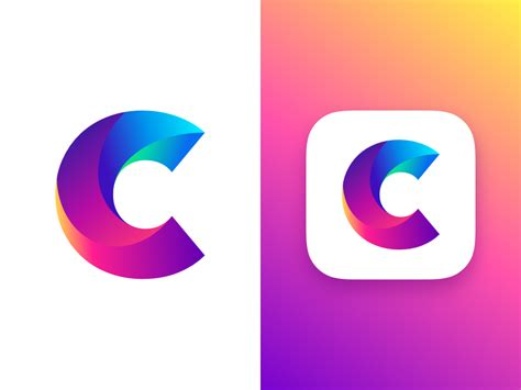 icon design studio letter c concept by zivile zickute dribbble