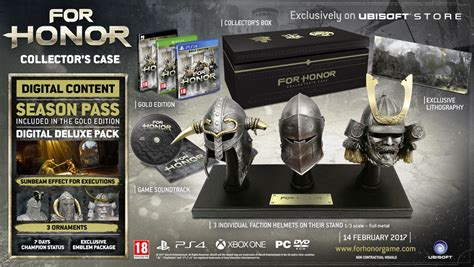 Promo For Honor Collector Edition Ps4 for honor collector s