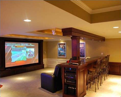 rec room idea huge tv sectional  table  bar