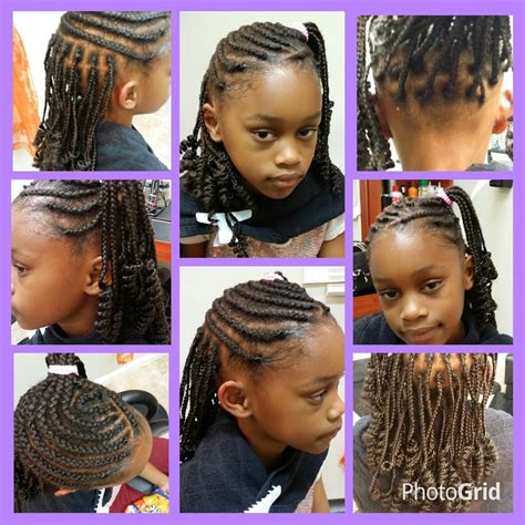 cornrows with individual braids in the back rodded individual box braids in the back and rodded