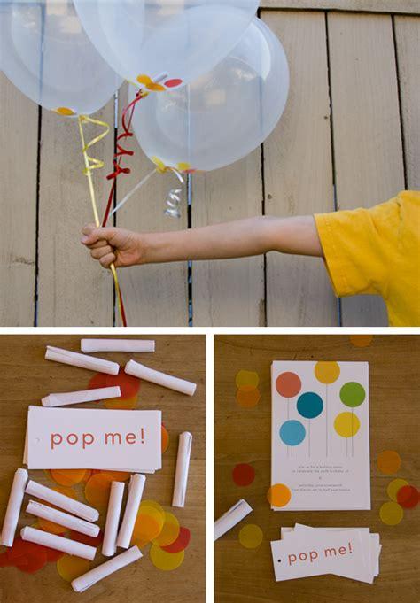 pop me balloon invitations