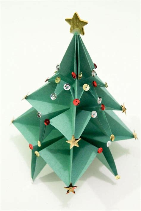 origami christmas tree 183 an origami tree 183 origami on cut