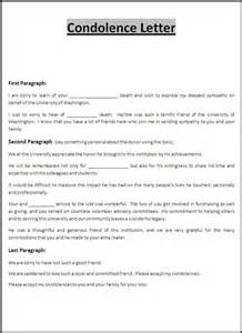 Sle Of Sympathy Letter by Condolence Letter Template Free Word Templates
