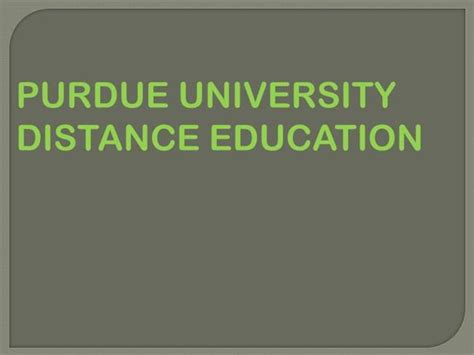Purdue University Distance Education Authorstream Purdue Powerpoint Template