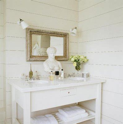 white wainscoting bathroom double washstand ideas cottage bathroom