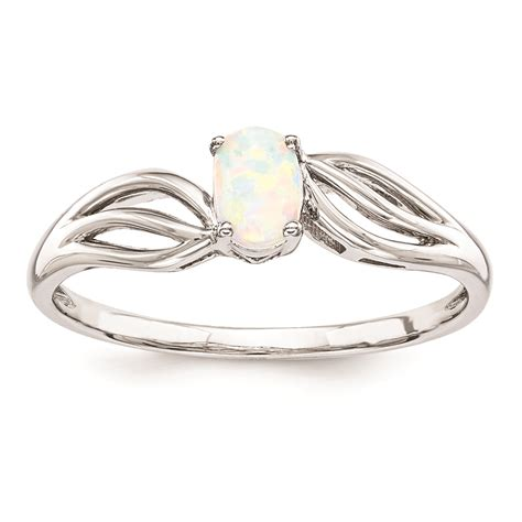sterling silver created opal ring qbr17oct sterling