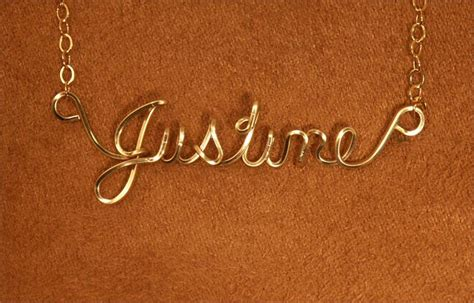 how to make wire name jewelry 1000 images about justine a name there is an quot e quot at
