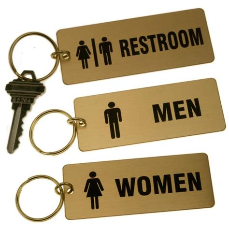 bathroom key tags lacquered brass rectangle key tag for bathrooms large