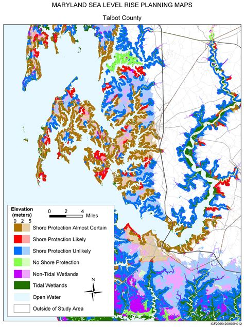 md county map sea level rise planning maps