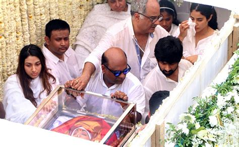 sridevi funeral photos sridevi s final journey rediff movies