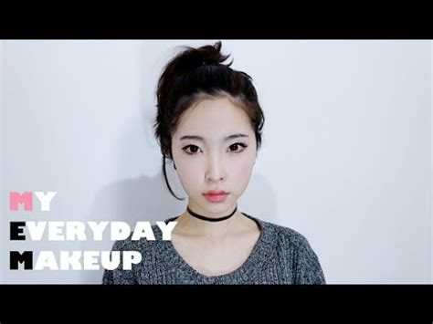 tutorial make up imut korea eng my everyday makeup tutorial korean daily makeup