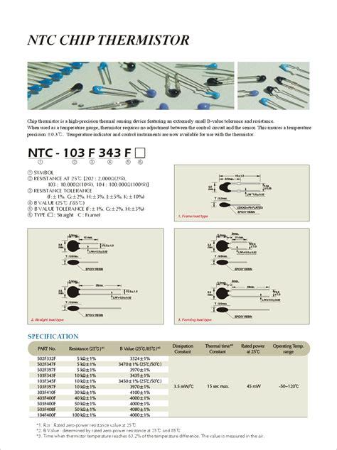 ntc thermistor sck 103 datasheet ntc 103f343f datasheet pdf pinout chip thermistor