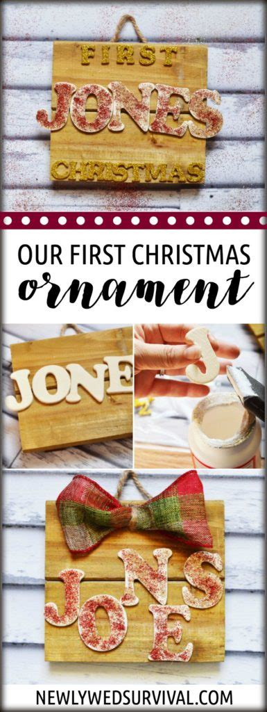 diy ornaments for newlyweds easy diy our ornament for newlyweds