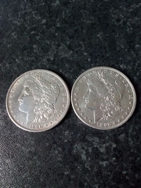 1 Dollar Silver Coin 1896 by Usa 1 Dollar 1890 And 1896 2 Coins Silver Catawiki