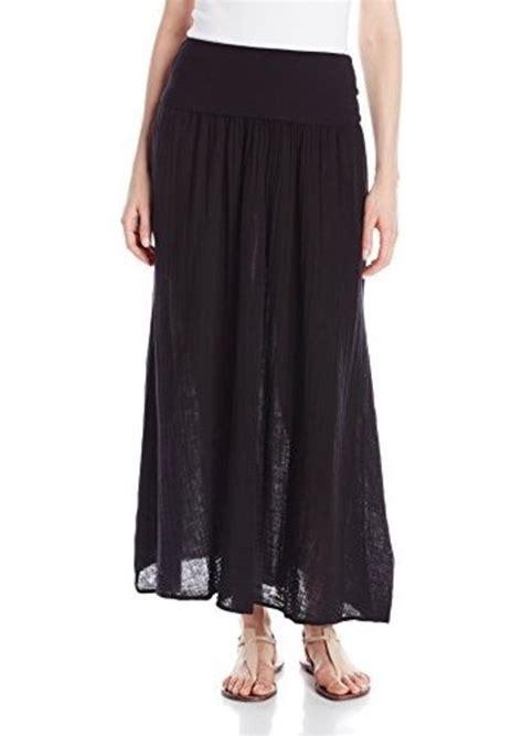three dots three dots s gauze maxi skirt with