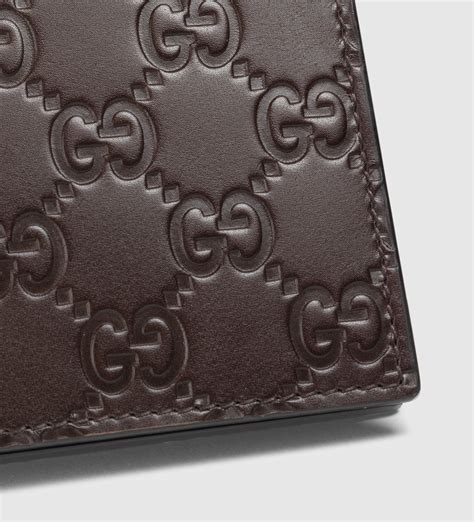 lyst gucci leather gg wallet in brown for