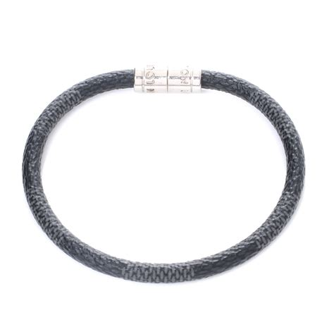 louis vuitton damier graphite keep it bracelet 44834