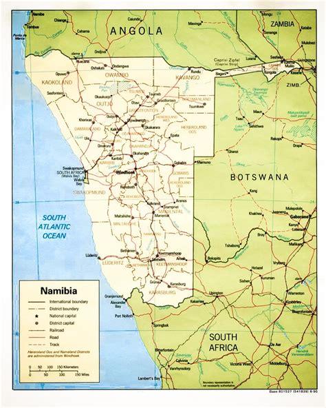 namibia map namibia images