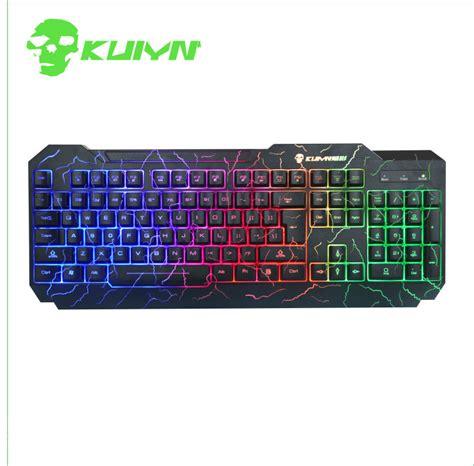 Keyboard Rexus K1 Led Keyboard kuiyn k1 backlight led luminous gaming keyboard waterproof