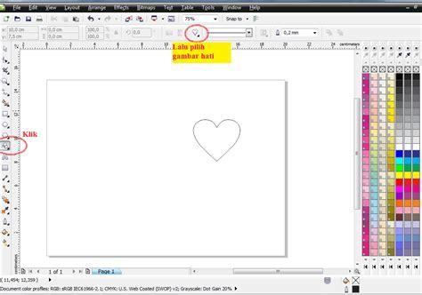 membuat kartu ucapan valentine dengan corel draw tutorial membuat kartu ucapan valentine teknik komputer