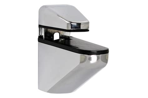 Small Shelf Bracket by Small Nouveau Chrome Shelf Bracket