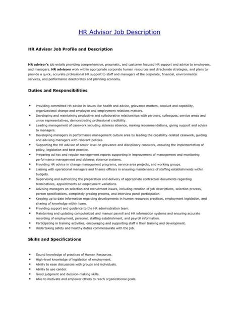 Financial Advisors Description by 4 Format For Financial Advisor Description Financial Advisor Description Resume