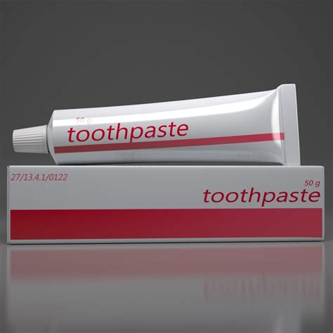 model toothpaste ointment vr ar  poly obj fbx ma