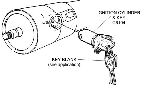 ignition cylinder and key diagram view chicago