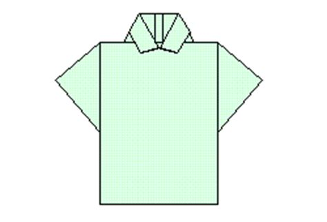 Origami Polo Shirt - origami by al free pdf diagrams and