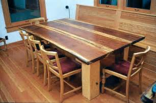 Wood Plank Kitchen Table Redwood Plank Dining Table Dining Tables Seattle By Eleisondesign