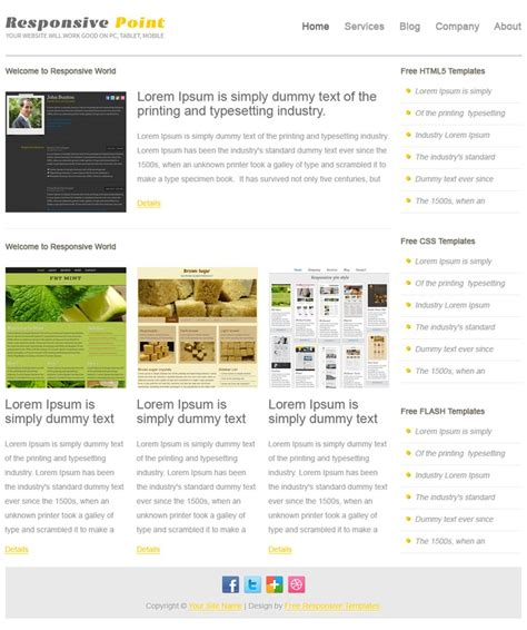 free css responsive templates pin by responsive templates on free responsive templates