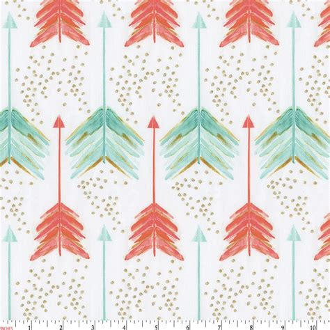 Chevron Pattern Comforter Coral And Teal Arrows Fabric By The Yard Coral Fabric
