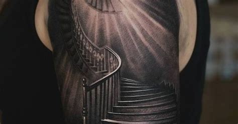 staircase tattoo stairway artist unknown tatts