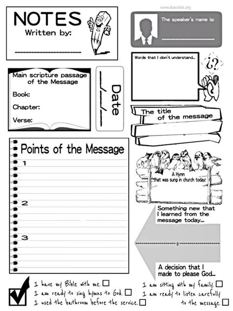 sermon notes for kids one of the best ways to help kids