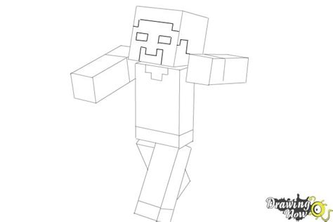 how to draw herobrine from minecraft drawingnow