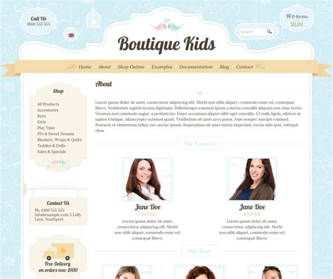 clothing web themes boutique kids creative wordpress theme by dtbaker