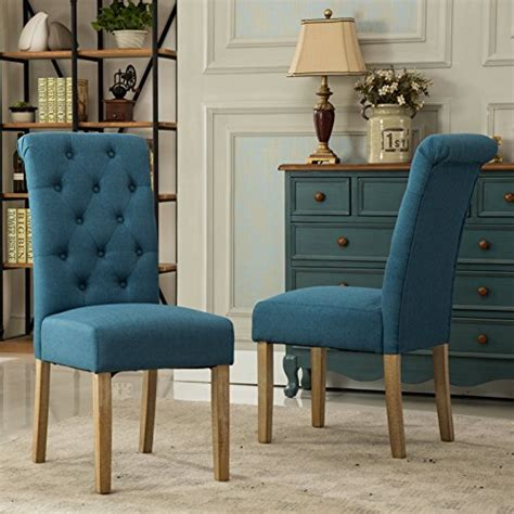 Upholstery Fabric For Dining Room Chairs by Roundhill Furniture Habit Solid Wood Tufted Parsons Dining
