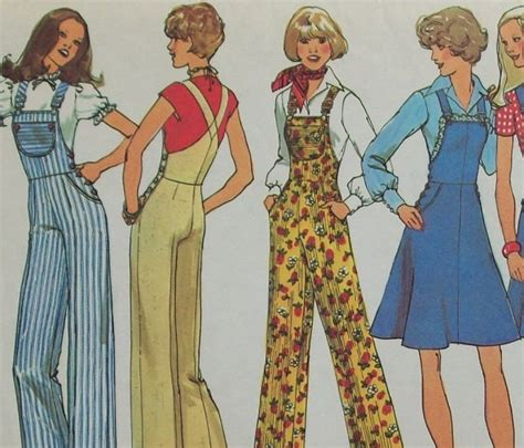 vintage overall pattern vintage 1970s sewing pattern simplicity 7006 misses wide