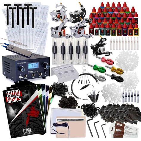 complete tattoo machine kit 5 gun set with 40 inks