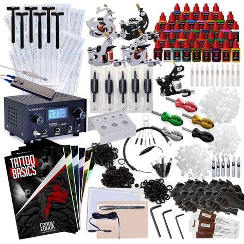 complete tattoo machine kit 5 gun set with 40 inks